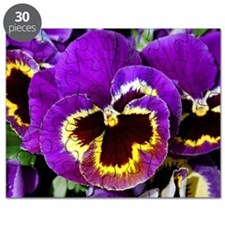 Beautiful purple pansy Puzzle