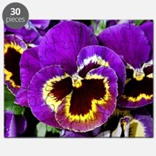 Beautiful purple pansy Puzzle