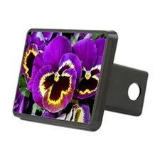 Beautiful purple pansy Hitch Cover