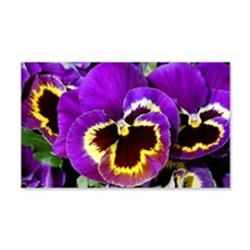 Beautiful purple pansy Wall Decal