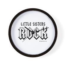 Little sisters rock / Baby Humor Wall Clock