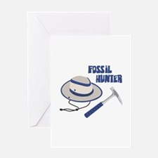 FOSSIL HUNTER Greeting Cards