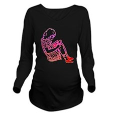 Girl in a dress, reading Long Sleeve Maternity T-S