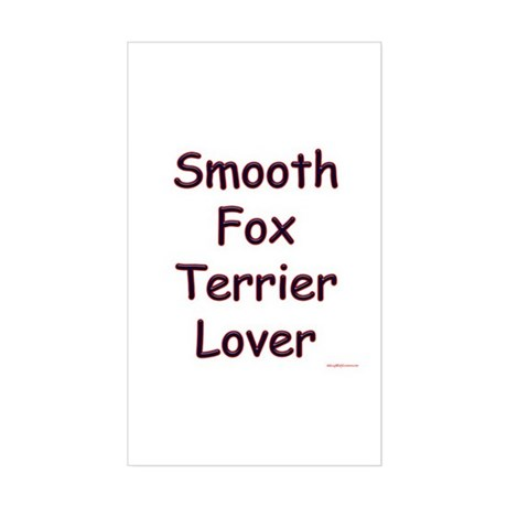 Smooth Fox Lover Rectangle Sticker