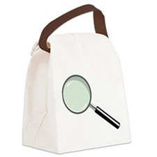 Magnifying Glass Canvas Lunch Bag