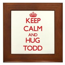 Keep calm and Hug Todd Framed Tile