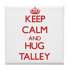 Keep calm and Hug Talley Tile Coaster