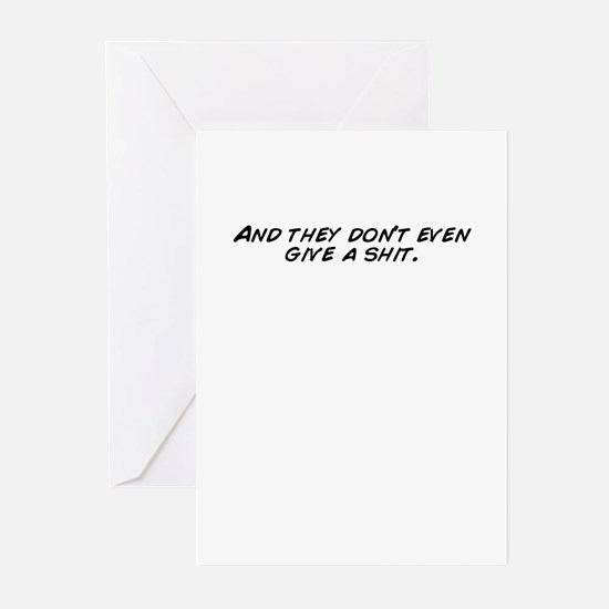 Unique Dont give a shit Greeting Cards (Pk of 20)