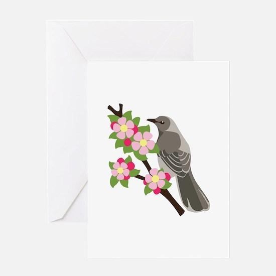 Apple Blossom Bird Greeting Cards