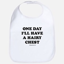 One day I'll have a hairy chest / Kids Humor Bib