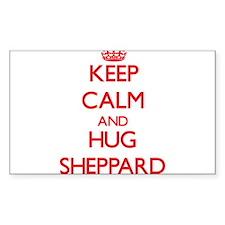 Keep calm and Hug Sheppard Decal