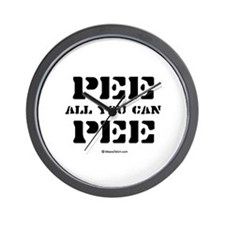 Pee all you can Pee / Baby Humor Wall Clock