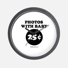 Photos with baby, 25 cents Wall Clock
