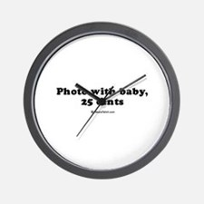 Photo with baby, 25 cents Wall Clock