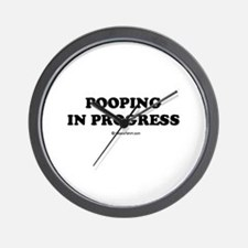 Pooping in progress Wall Clock