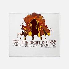 Full of Terrors Throw Blanket