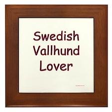 Vallhund Lover Framed Tile