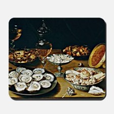 Osias Beert - Dishes with Oysters, Fruit Mousepad