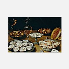 Osias Beert - Dishes with Oysters Rectangle Magnet
