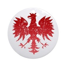 Polish Eagle Ornament (Round)