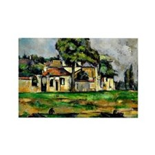 Cezanne - Banks of the Marne Rectangle Magnet