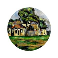 """Cezanne - Banks of the Marne 3.5"""" Button"""