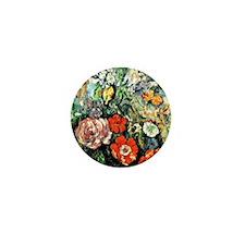 Cezanne - Flowers, Paul Cezanne painti Mini Button