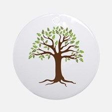 Oak Tree Ornament (Round)