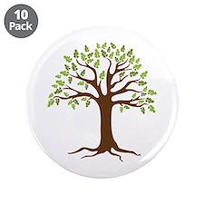"""Oak Tree 3.5"""" Button (10 pack)"""
