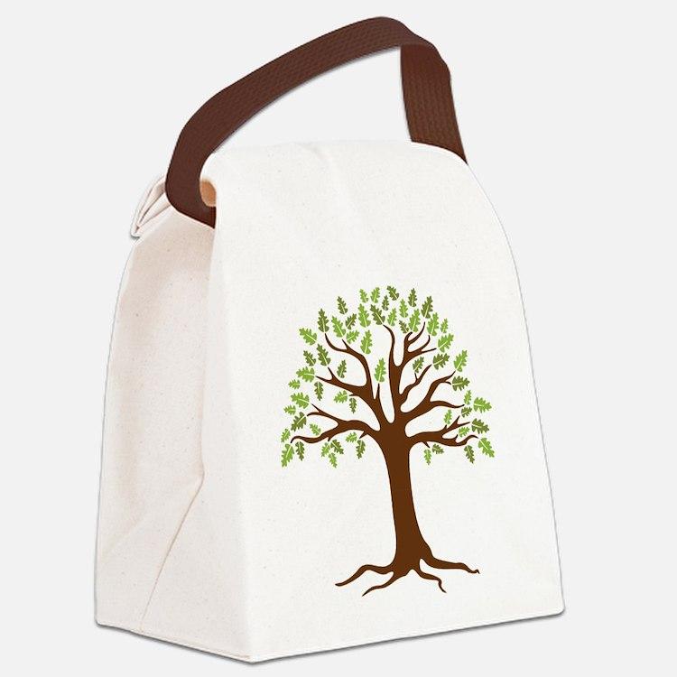 Oak Tree Canvas Lunch Bag