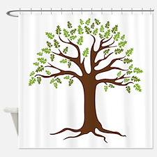 Oak Tree Shower Curtain