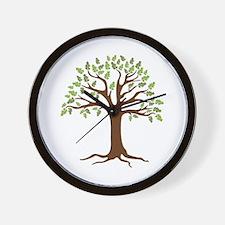 Oak Tree Wall Clock