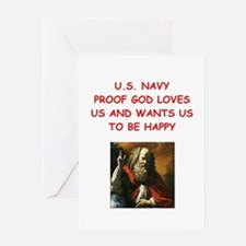 navy Greeting Cards