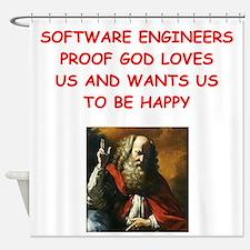 software engineer Shower Curtain