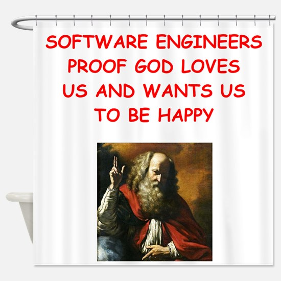 software engineer Shower Curtain