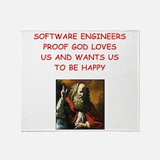 software engineer Throw Blanket