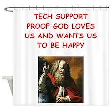 tech support Shower Curtain