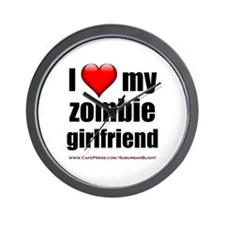 """Love My Zombie Girlfriend"" Wall Clock"