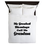 My Greatest Blessings call me Grandma Queen Duvet