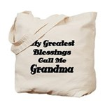 My Greatest Blessings call me Grandma Tote Bag