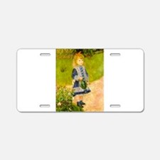 Girl With a Watering Can Aluminum License Plate