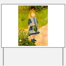 Girl With a Watering Can Yard Sign
