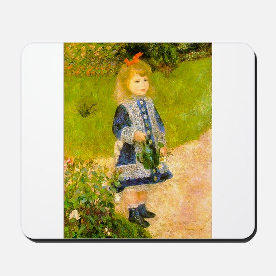 Girl With a Watering Can Mousepad