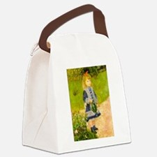 Girl With a Watering Can Canvas Lunch Bag