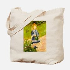 Girl With a Watering Can Tote Bag