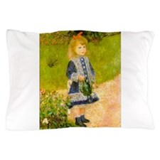 Girl With a Watering Can Pillow Case
