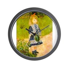 Girl With a Watering Can Wall Clock