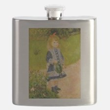 Girl With a Watering Can Flask