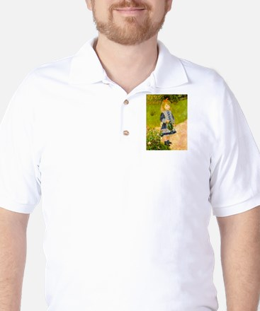 Girl With a Watering Can Golf Shirt