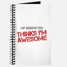 Babysitter Awesome Journal